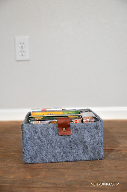 diy felt storage box
