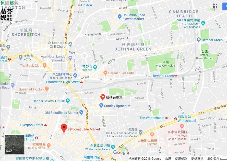 紅磚巷市集 Brick lane Market - 英國倫敦東區的塗鴉市集 旅遊美食地圖指南