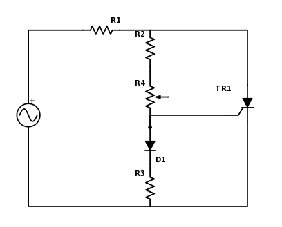 Resistor switching of an SCR