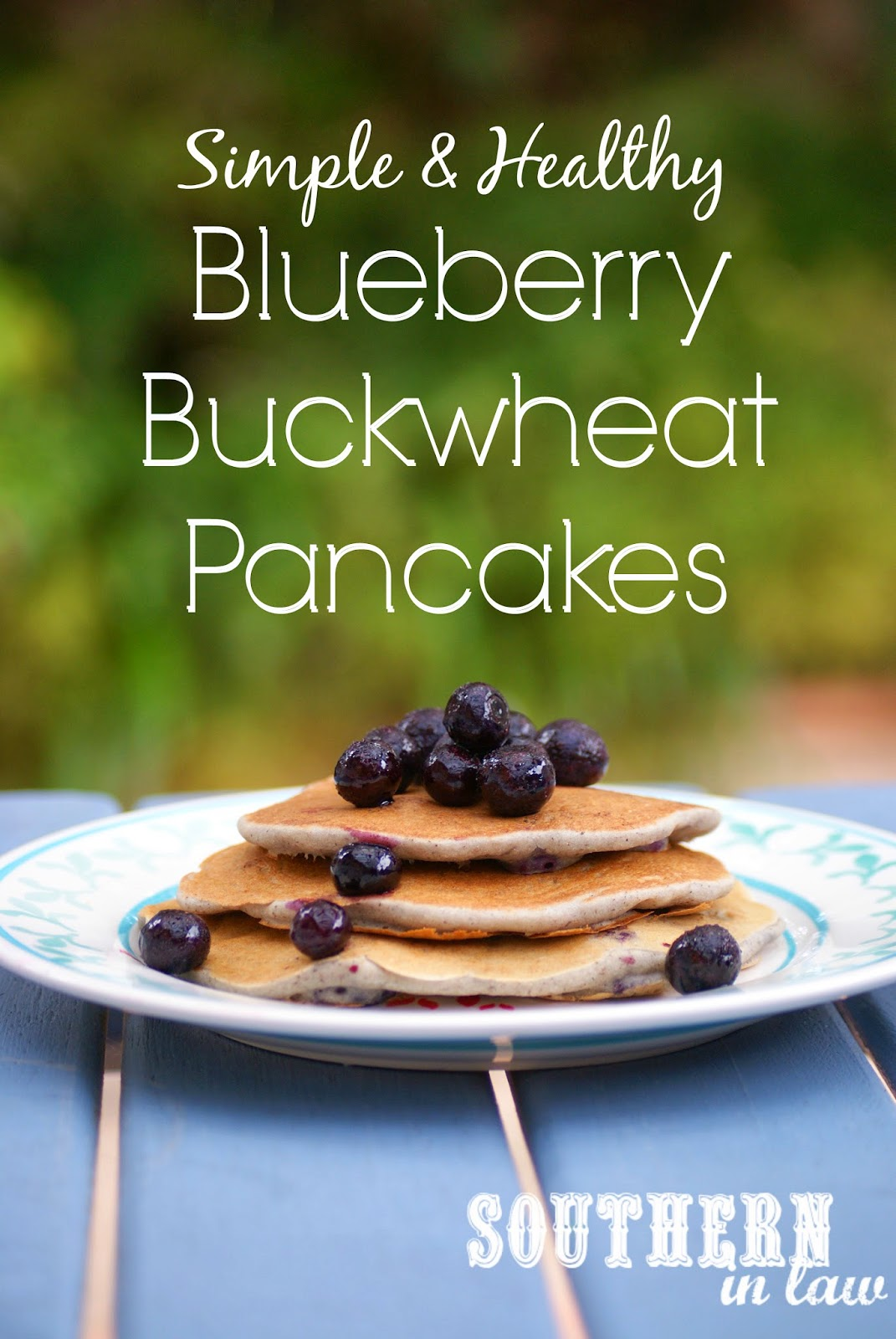 Gluten Free Blueberry Buckwheat Pancakes - healthy, low fat, vegan