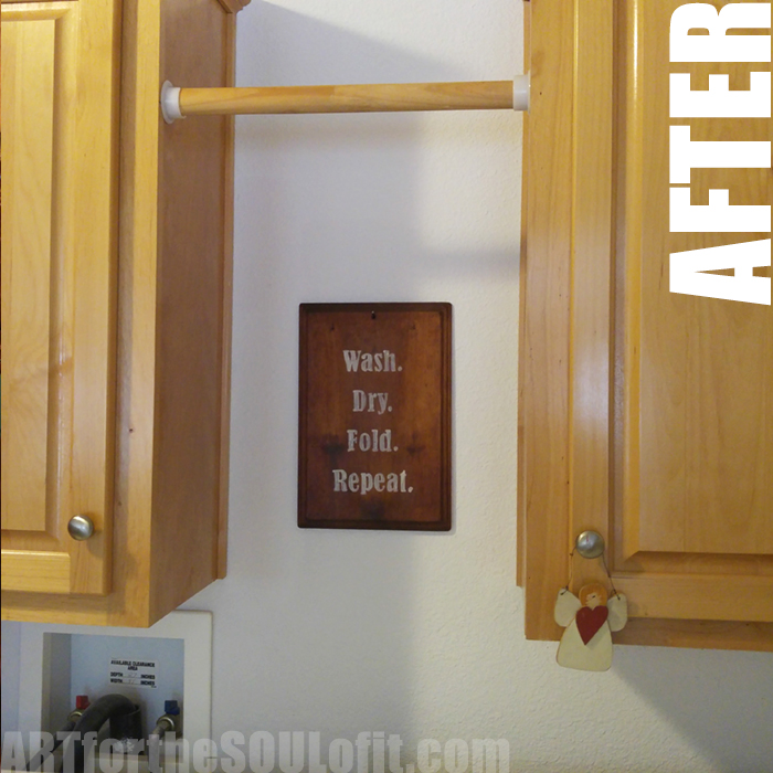 DIY laundry room makeover on a budget