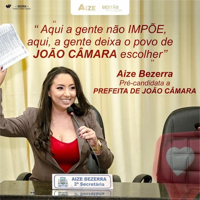 Vereadora Aize Bezerra lança pré-candidatura à prefeita de João Câmara