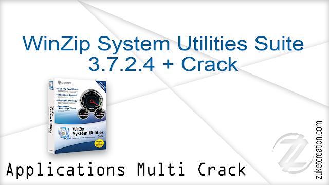 WinZip System Utilities Suite 3.7.2.4 + Crack |  56 MB