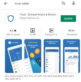 Cara Membuat Akun Trust Wallet (Dompet Crypto Currency)