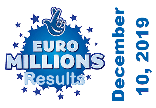 EuroMillions Results for Tuesday, December 10, 2019