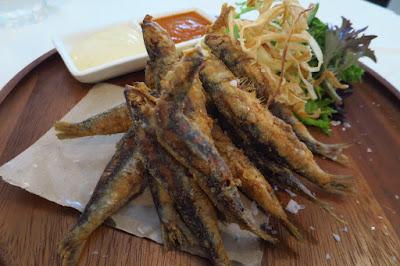 Etna, fried sardines