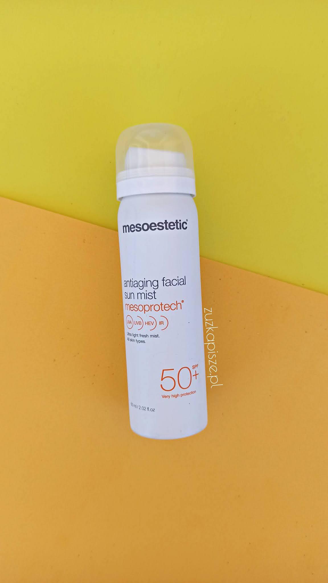 Mesoestetic Mesoprotech Antiaging Facial Sun Mist Mgiełka do twarzy SPF 50+ - topestetic.pl