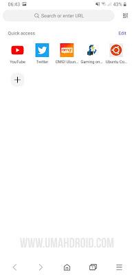 Scan QR Code dengan Samsung Browser
