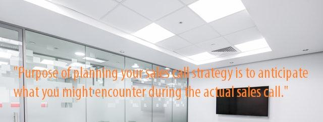 Sales call planning purpose