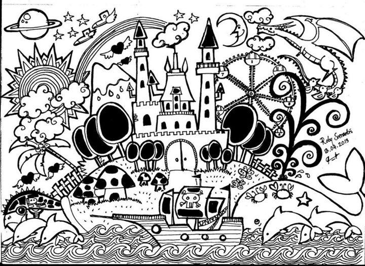 Gambar Wallpaper Doodle Art  impremedianet