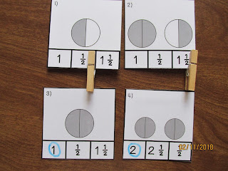 Clip It Mixed Fractions Task Cards