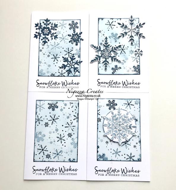 Nigezza Creates with Stampin' Up! Snowflake Wishes One Sheet Wonder