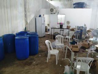 Fábrica clandestina de álcool em gel