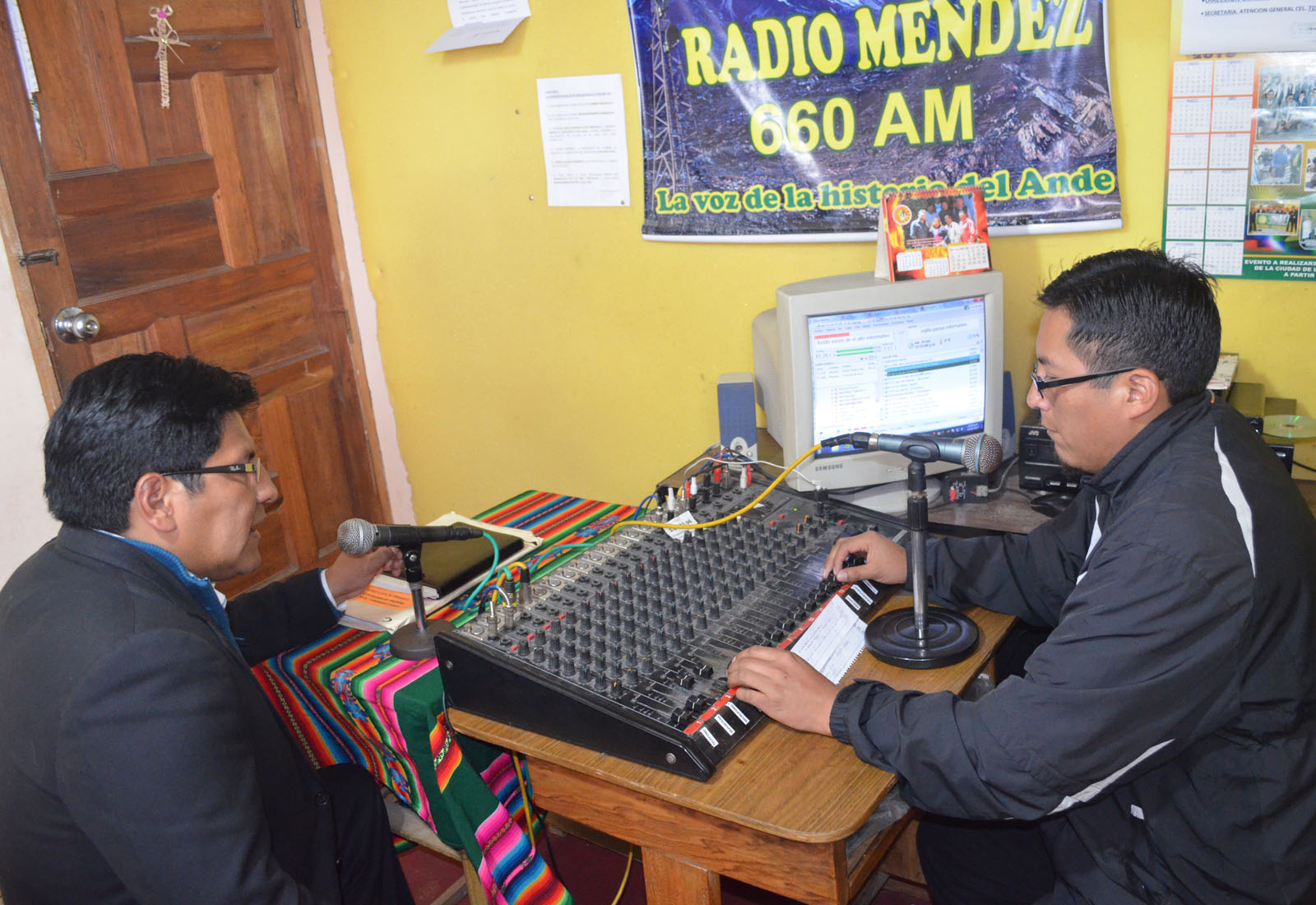 Choquehuanca entrevistado por Wilson Laime en radio Méndez 660 AM