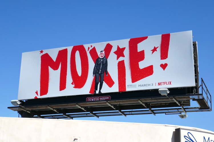 Moxie movie billboard