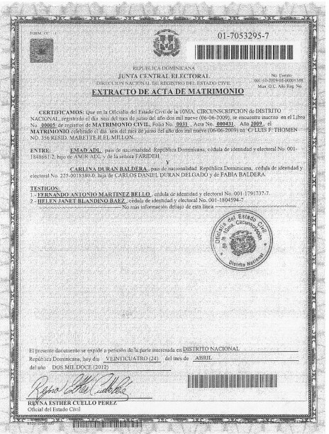 Certificado De Matrimonio Simbolico : Como sacar acta de nacimiento en republica dominicana