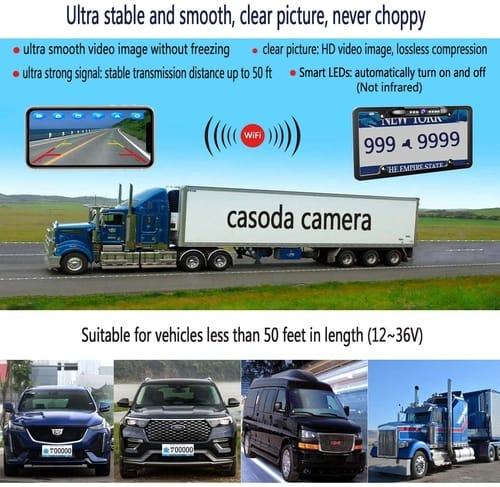 Casoda WiFi Wireless License Plate Backup Camera