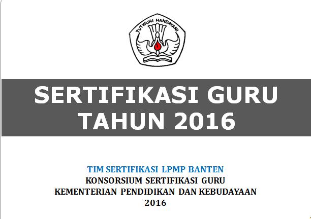 Download Buku Panduan Sergur (Sertifikasi Guru) Tahun 2016