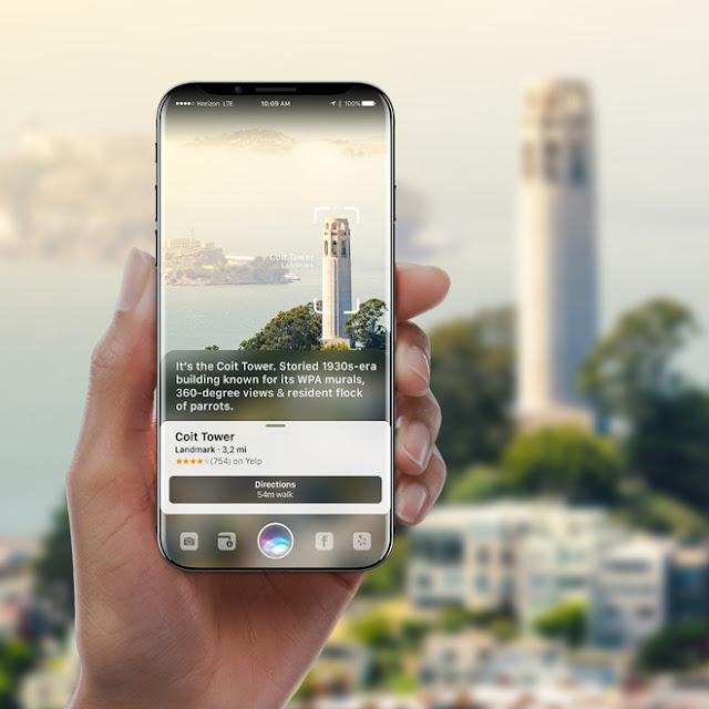 Yeni iPhone 8 Konsepti, Siri-Powered Artırılmış Gerçeklik Geleceği İle Devralıyor