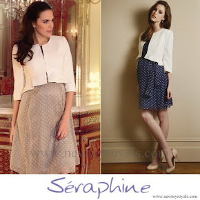 Princess Sofia wore SERAPHINE Cropped Peplum Jacket