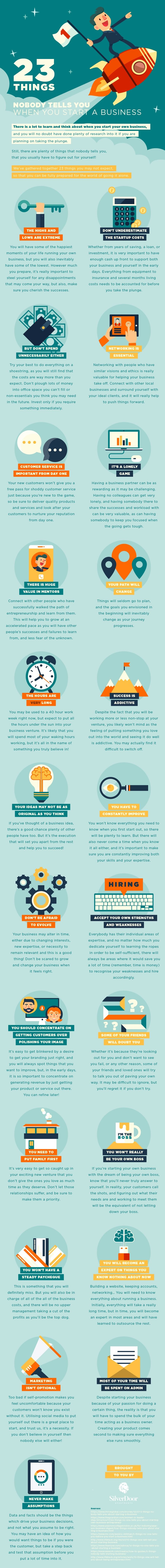 23 Things Nobody Tells You When You Start A Business #Infographic