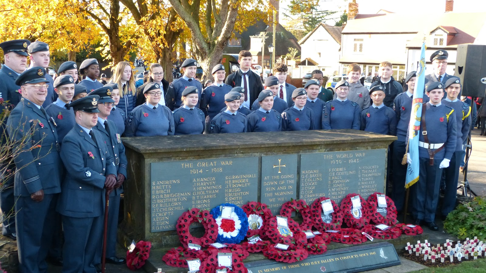 Air Cadets Remembrance parade 2019 in Castle Bromwich