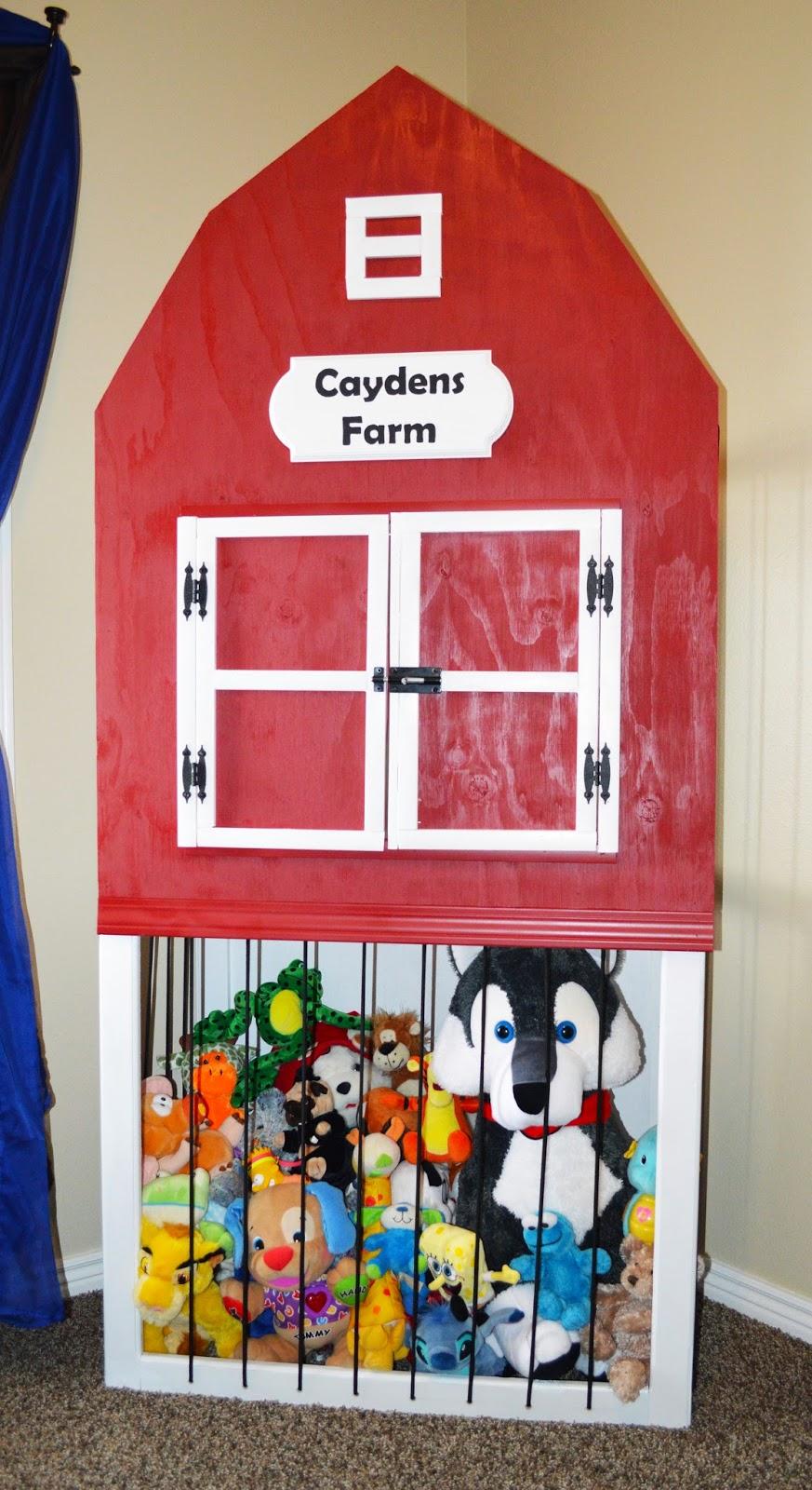 Cayden S Farm Stuffed Animal Storage Zoo