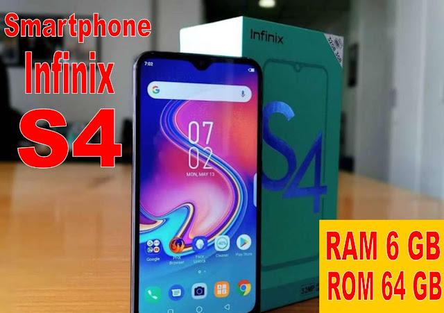 Smartphone Infinix S4 RAM 6 GB dan ROM 64 GB