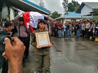 Kapolda Papua Pimpin Upacara Pelepasan Jenazah Brigadir Heidar