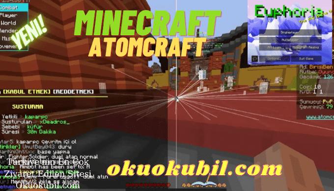 Minecraft  AtomCraft Sunucu Hilesi Esp, Aimbot, Damage İndir 2021