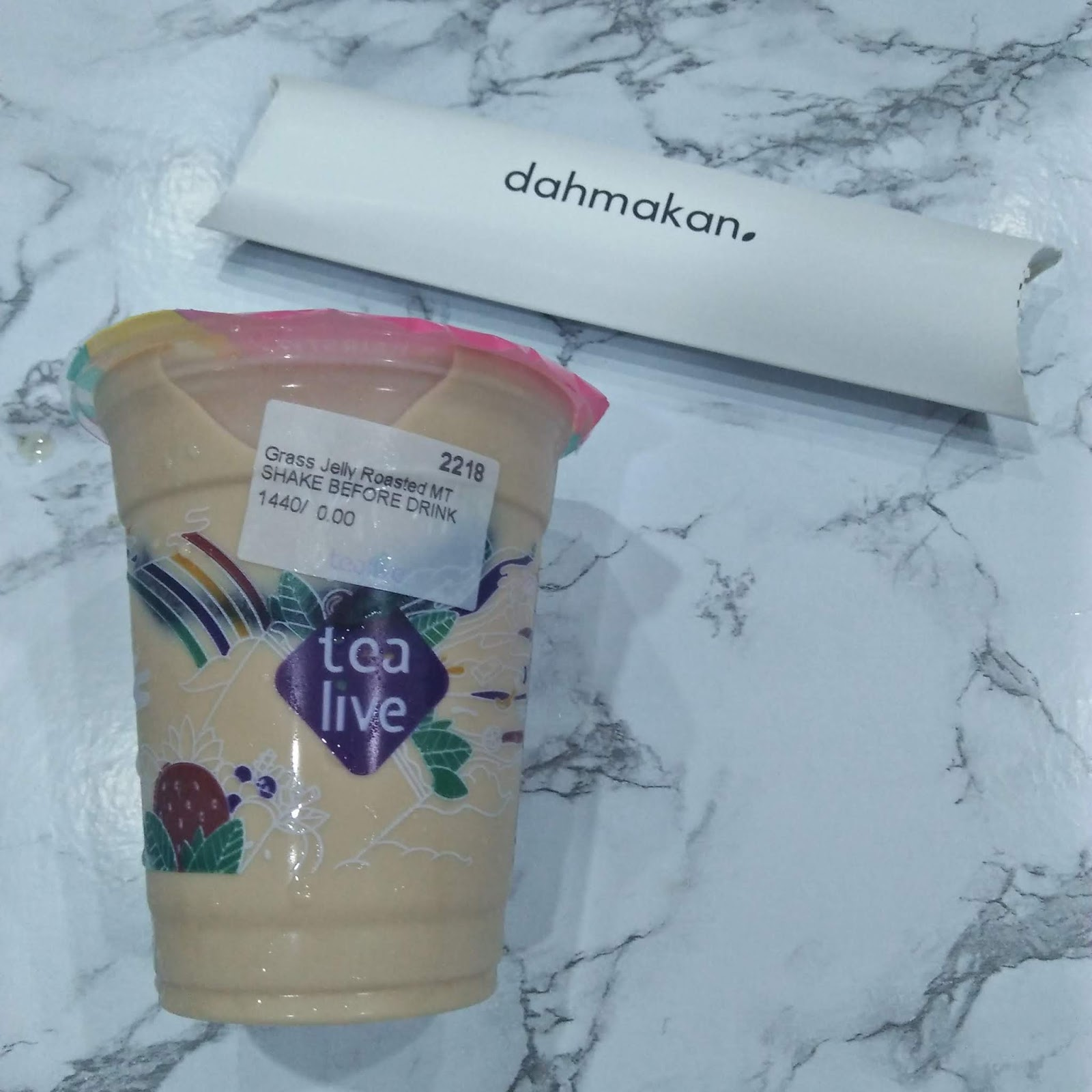 dahmakan Tealive Roasted Milk Tea with Grass Jelly