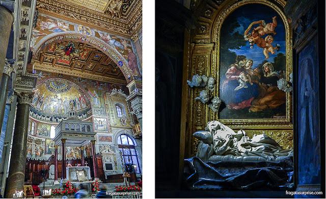Atrações do Trastevere, Roma: escultura de Bernini e Basílica de Santa Maria in Trastevere