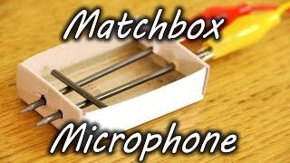 Як зробити мікрофон з коробки від сірників і олівця?