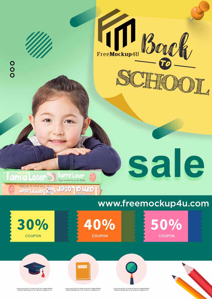 Simple Green Back To School Template PSD