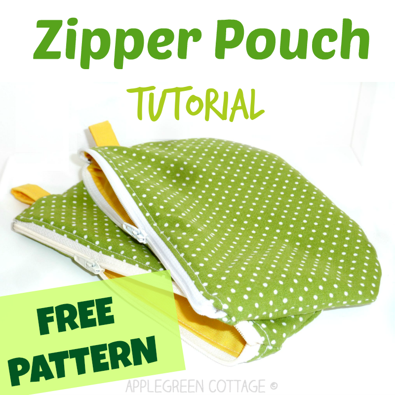 Zipper pouch tutorial with a free template - You can't have enough zippered pouches. They are my favorite items to sew, and they make perfect holiday gifts. Follow this easy, step-by-step tutorial and sew one of these beauties yourself!