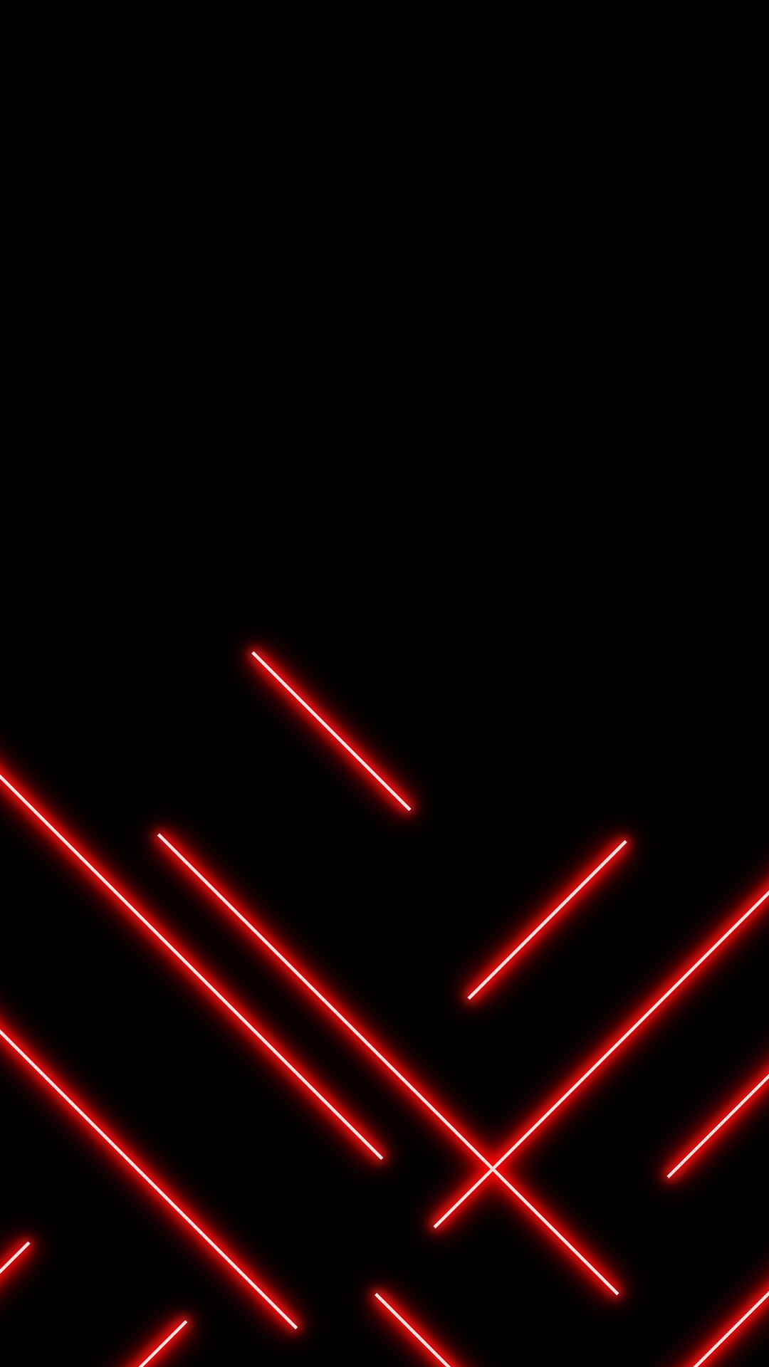 Amoled wallpaper with red neon lines