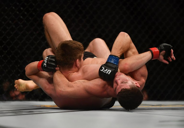 Bryce Mitchell attempts submission Charles Rosa UFC 249