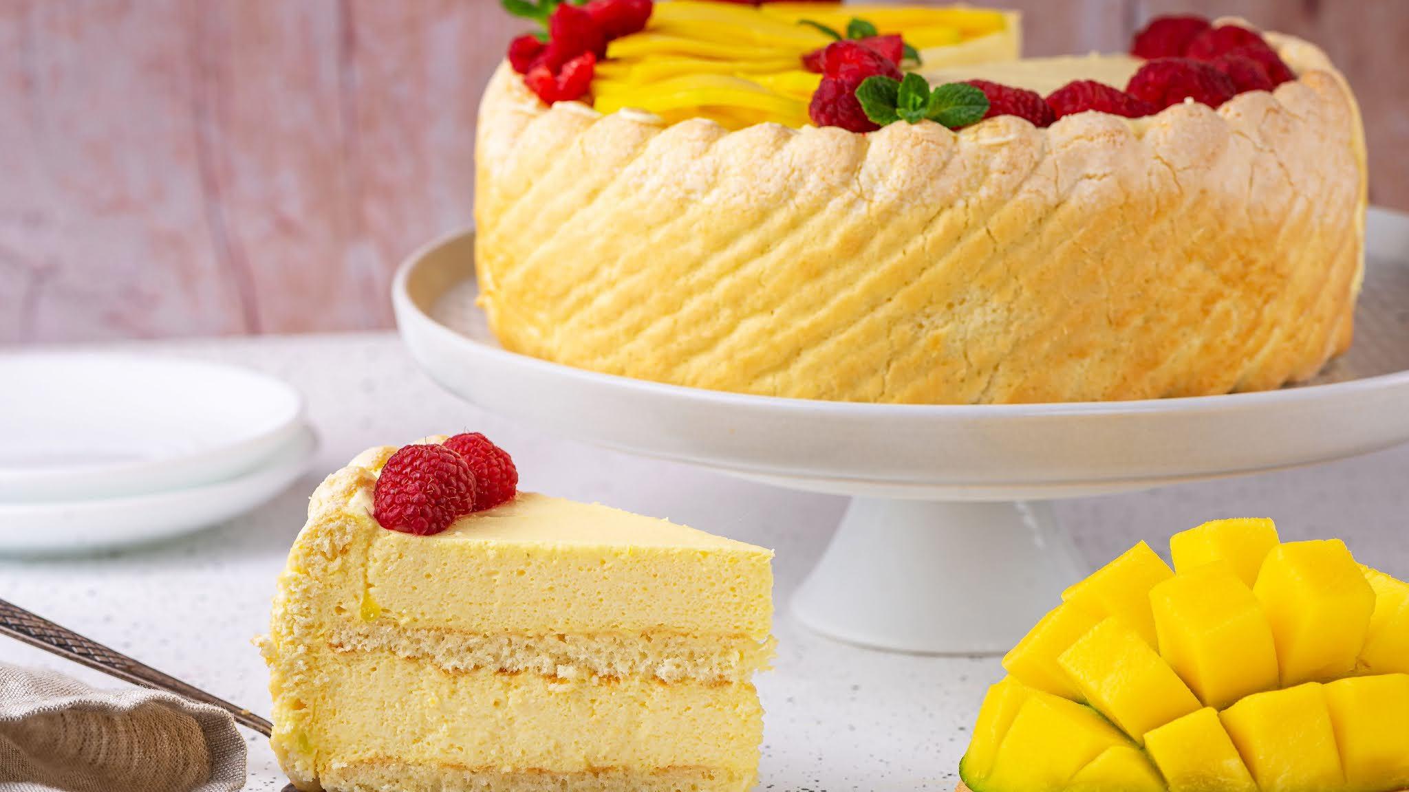 Tasty Mango Mousse Whithout Bake Cake Recipe