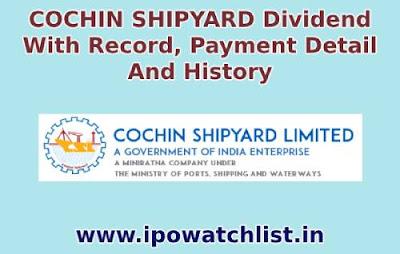 cochin shipyard dividend
