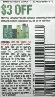 """$3/2 Garnier Fructis Shampoo, Conditioner Coupon from """"RMN"""" insert week of 59/8 (EXP:9/21)."""