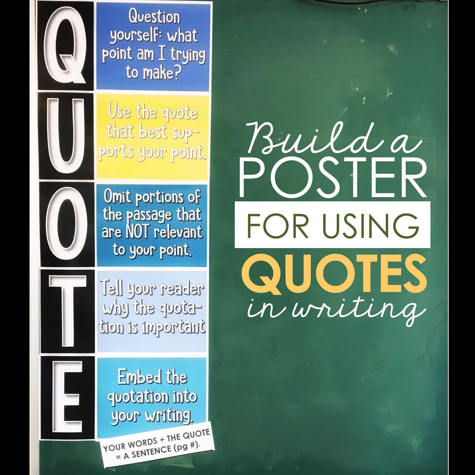 Teach Students How to Use Quotations - The Secondary English Coffee Shop [ 1600 x 1600 Pixel ]