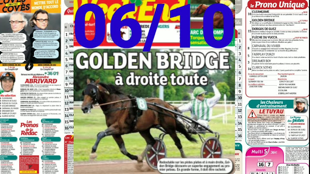 programme quinté+ Pronostic quinté Mercredi 06/10/2021