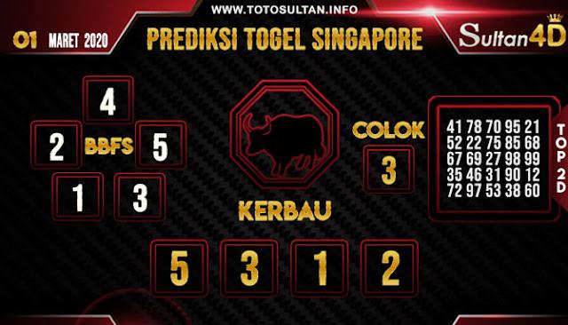 PREDIKSI TOGEL SINGAPORE SULTAN4D 01 MARET 2020