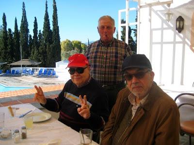 Los ajedrecistas Jaume Anguera, René Mayer y Pere Mas Recorda