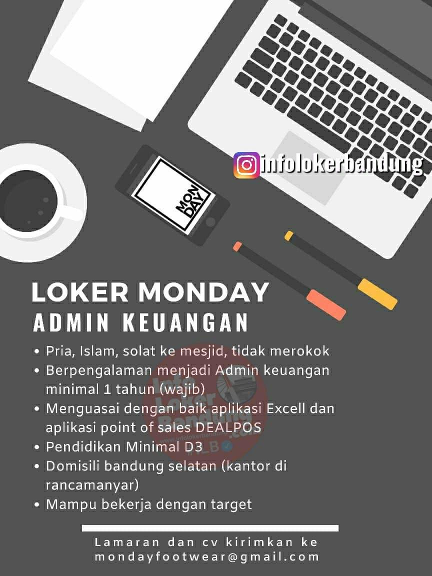 Lowongan Kerja Admin Keuangan Monday Footwear Bandung Juni 2021