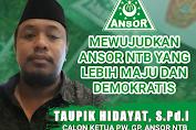Taupik Hidayat : Saya Siap Melanjutkan Kepemimpinan Zamroni Aziz Memimpin GP Ansor NTB