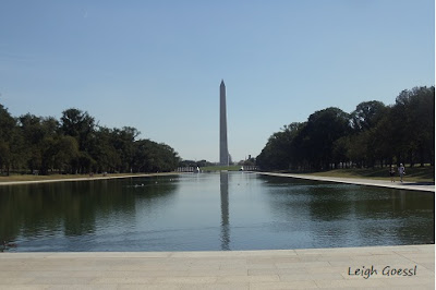 Washington Monument and reflections