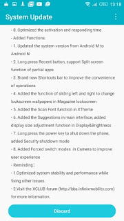 Android Nougat OTA update for Infinix S2 Pro