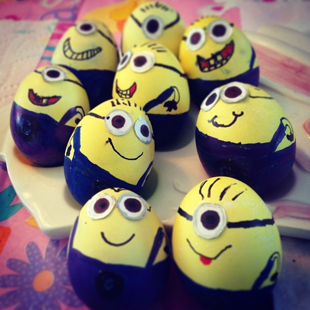 Easter egg decorative idea minions