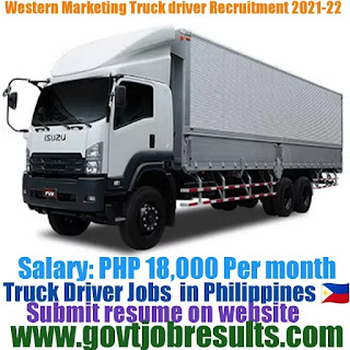 Western Marketing Delivery Truck Driver Recruitment 2021-22